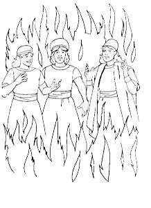 Shadrach Meshach And Abednego Coloring Page Sunday School Crafts