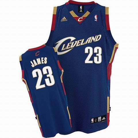 db4ff98bcb9d Cleveland Cavaliers  23 LeBron James blue Throwback Classic Jersey ...