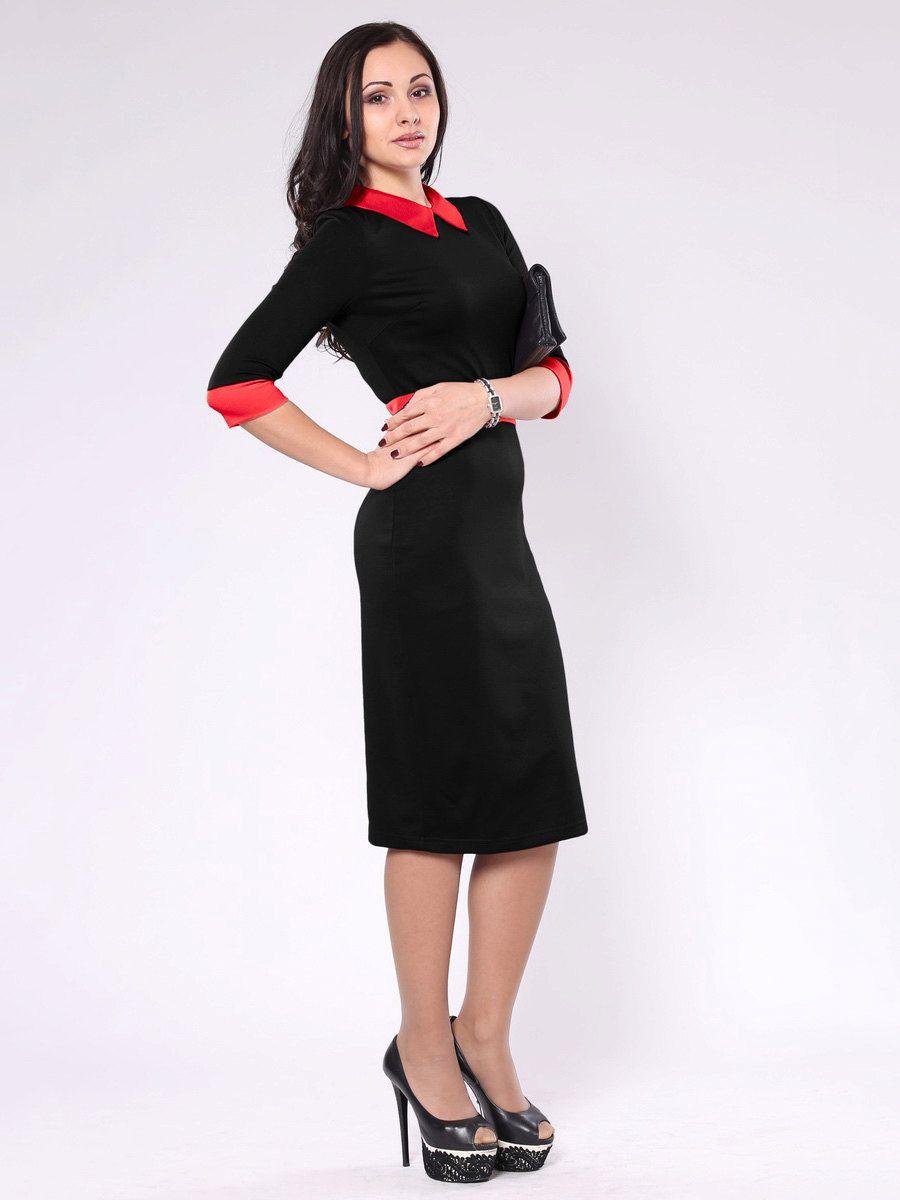 Contrast dress Women\'s Clothing Black dress Red women dressPeter Pan ...