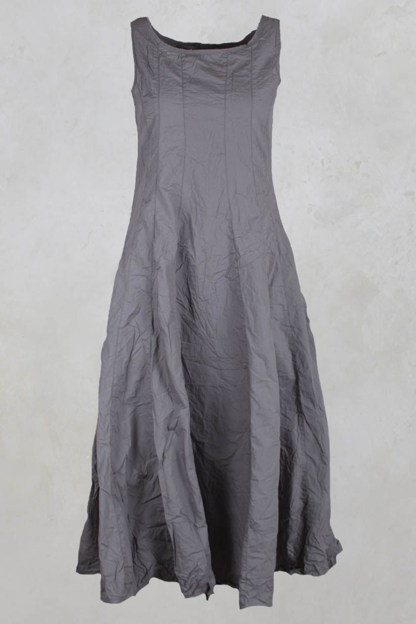 Fitted Panelled Dress with Flared Skirt in Grey - Ewa I Walla ...