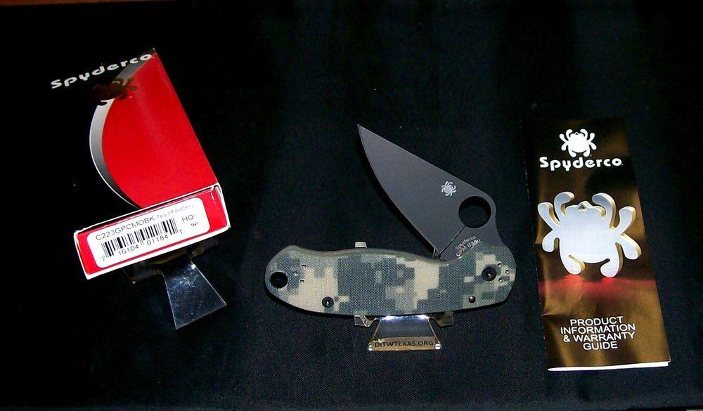 Spyderco Para 3 Camo Knife