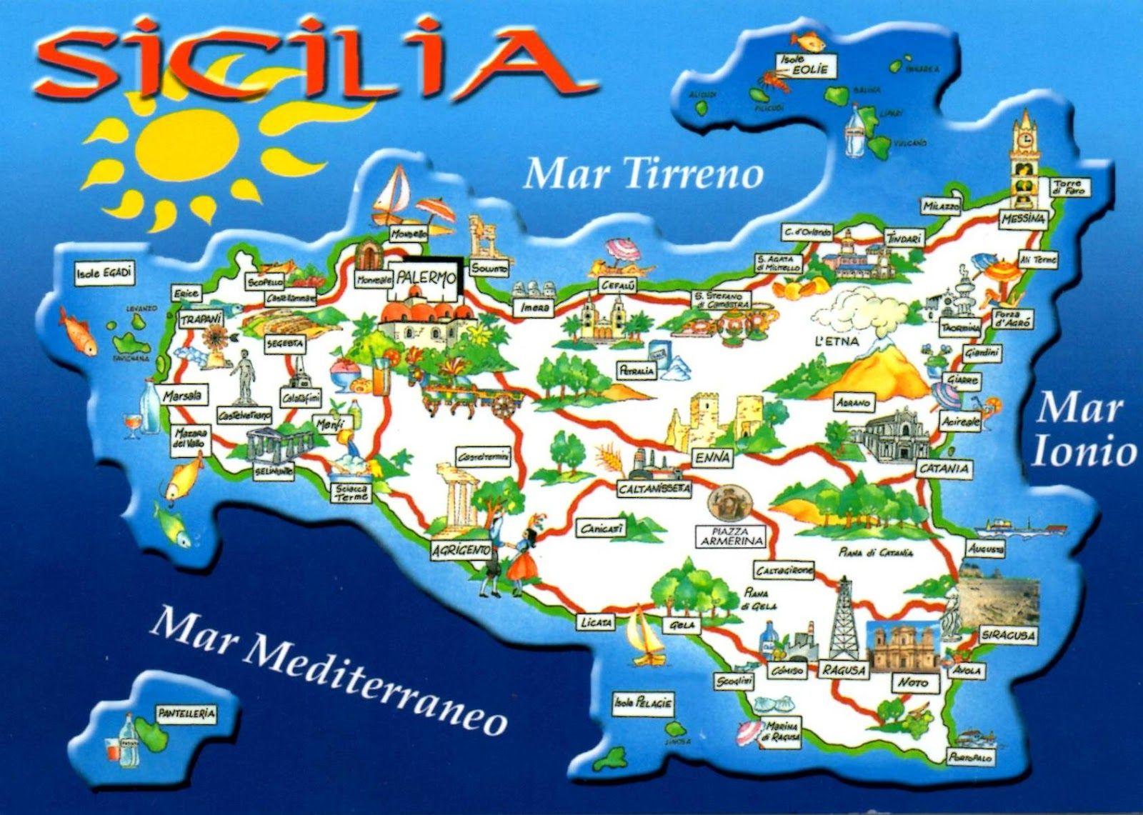 Carte Sicile Images Google Carte sicile, Sicile