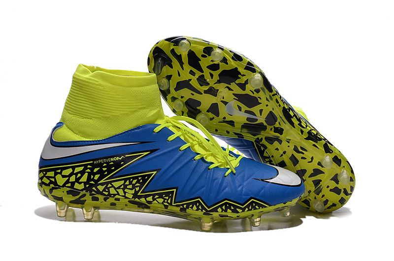 nike hypervenom blue and green