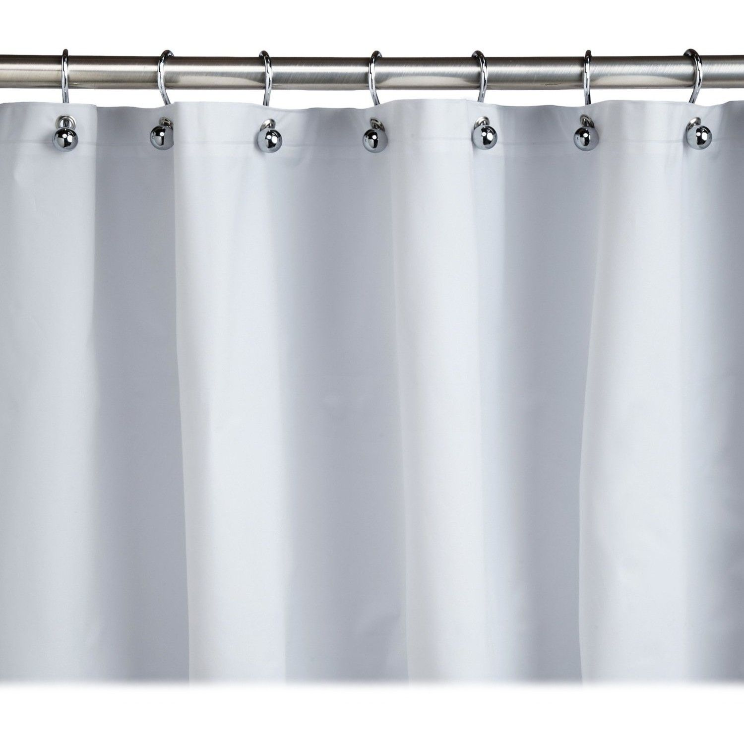 Homz Plastic White Shower Curtain Liner 70 X 72 Inch Curtains