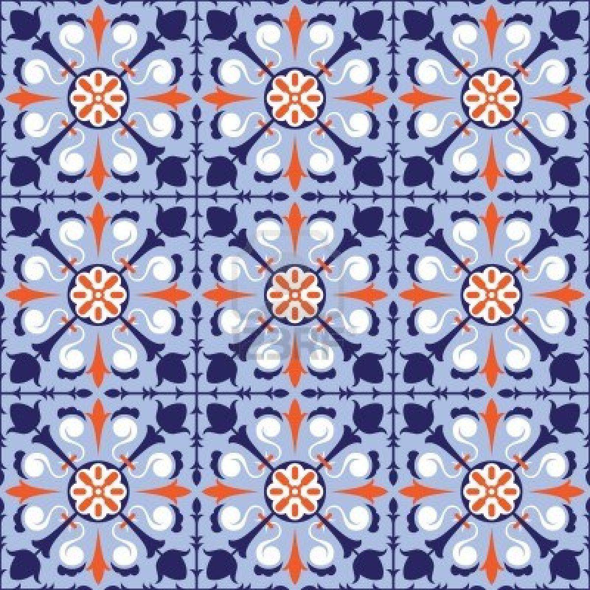 13485927-colorful-arabic-style-tiles-seamless-pattern.jpg (1200×1200 ...