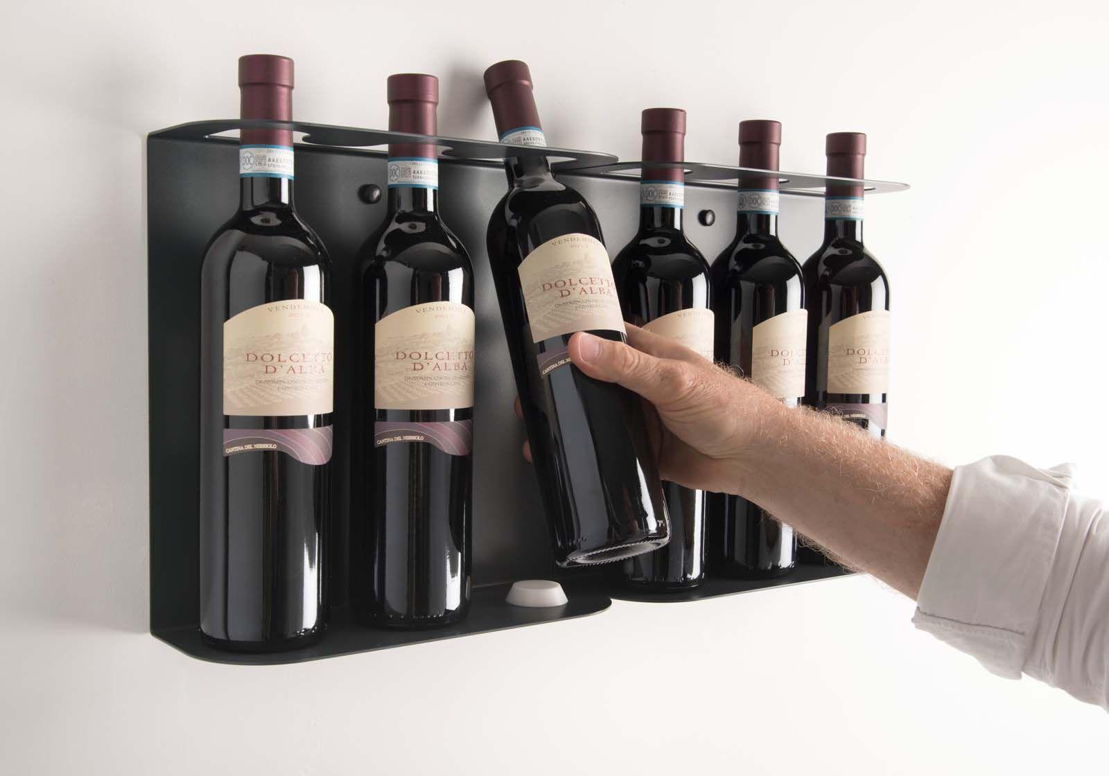 Support A Bouteille De Vin Mural teewine - le porte-bouteilles muralmauro canfori | new