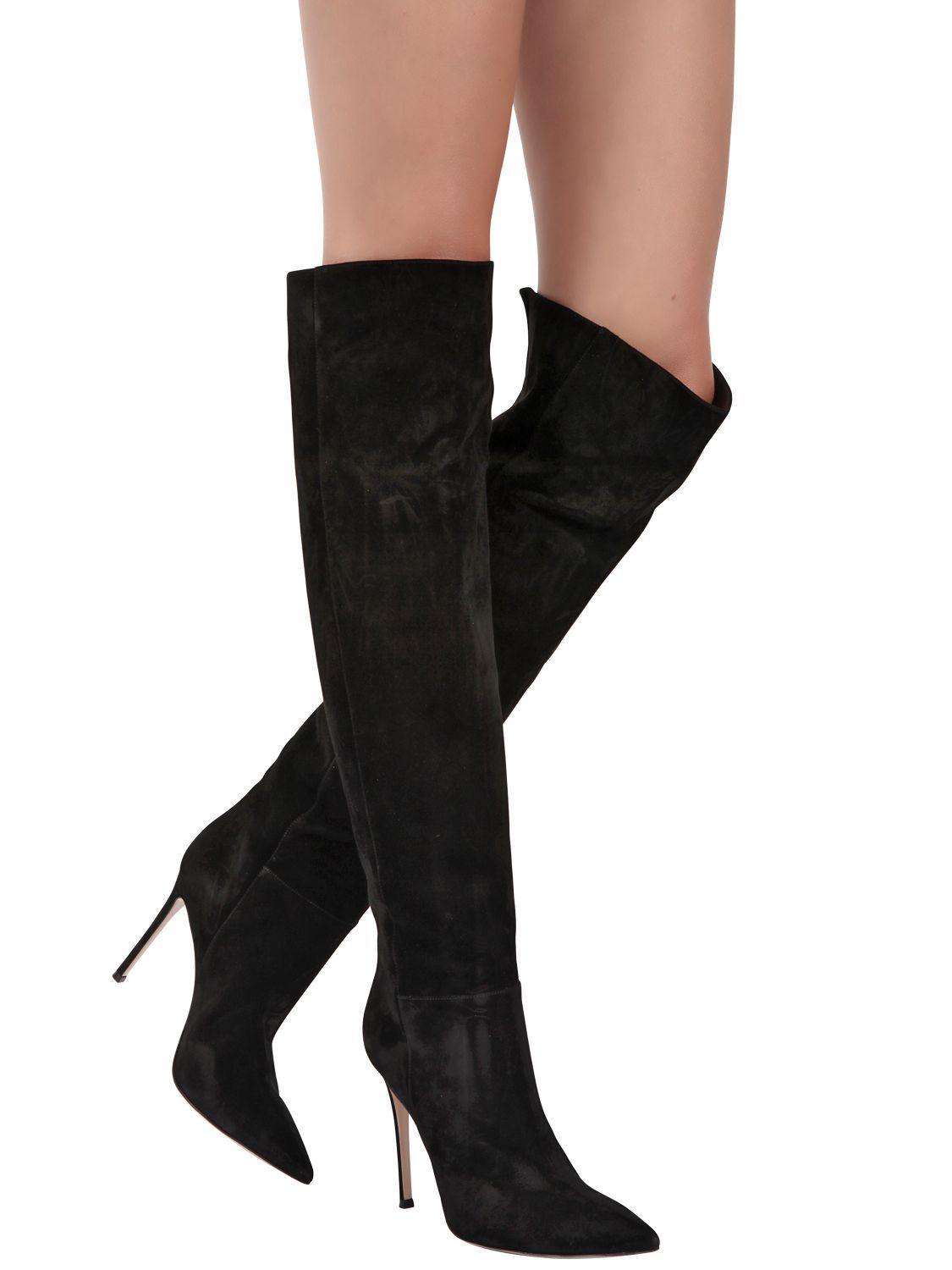 Womens Suede Cuissard Boots Gianvito Rossi AVMEy