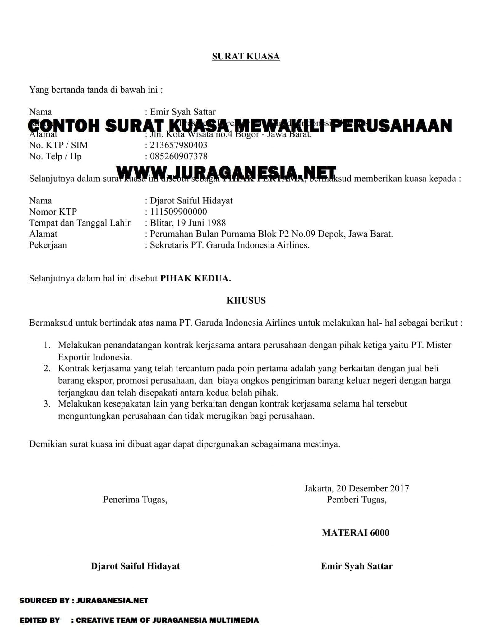 Contoh Surat Penawaran Kerjasama Notaris Dengan Bank Surat Pengunduran Diri Surat Surat Kuasa