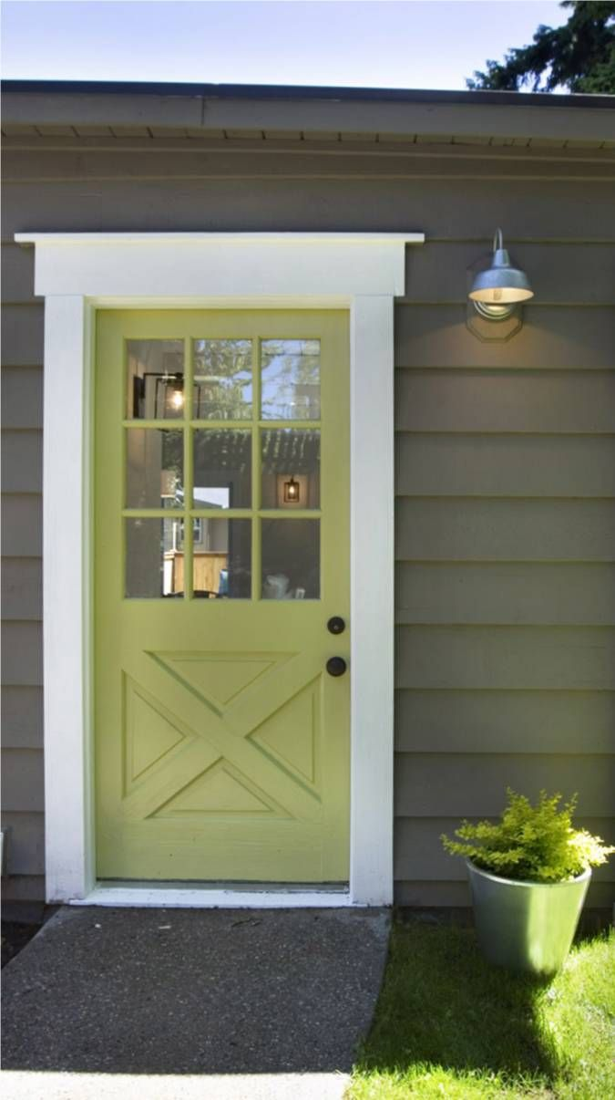 green farmhouse door, love the door & the colours (and the light ...