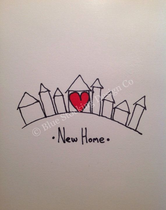 Card Making Ideas For Housewarming Part - 35: New Home Card, Housewarming Card On Etsy, $1.70