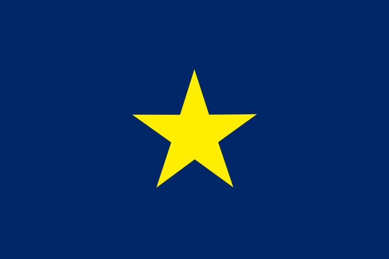 The Burnet Flag Used From 1836 To 1839 As The National Flag Of The Republic Of Texas It Was Replaced By The Curre Republic Of Texas War Flag Historical Flags