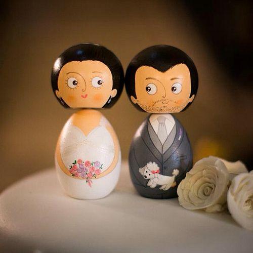 Casamento Juliana e Leandro! Fotos by Danilo Siqueira - Topo de bolo by Nanda Teixeira #nandarte #noivinhos #nandateixeira #noivinhosdemadeira #noivinhosdiferentes #vintage | por nanda.casamento