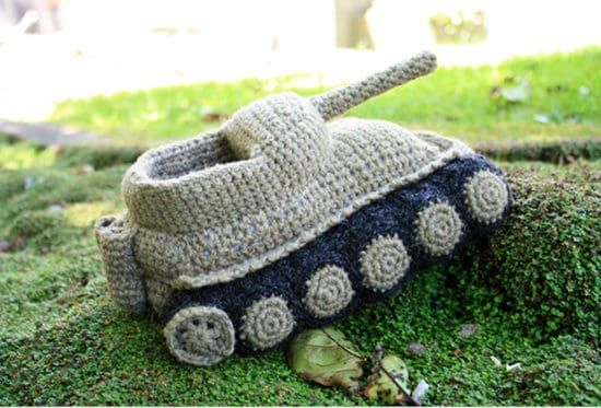 Army Tank Crochet Slippers Panzer Pattern Crocheted Slippers
