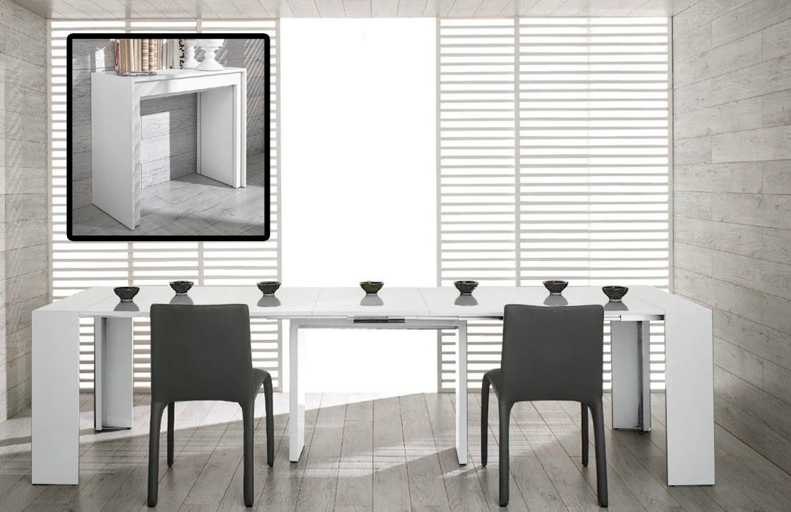 Morph Modern Ultra Compact Extendable White Dining Table