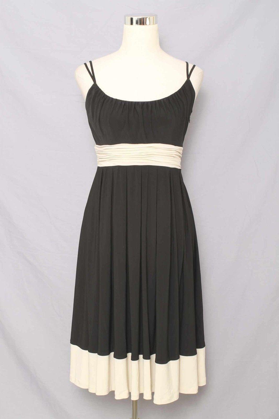 Jones New York Dress Gorgeous Black & Light Beige Dress Size 4 999 L415