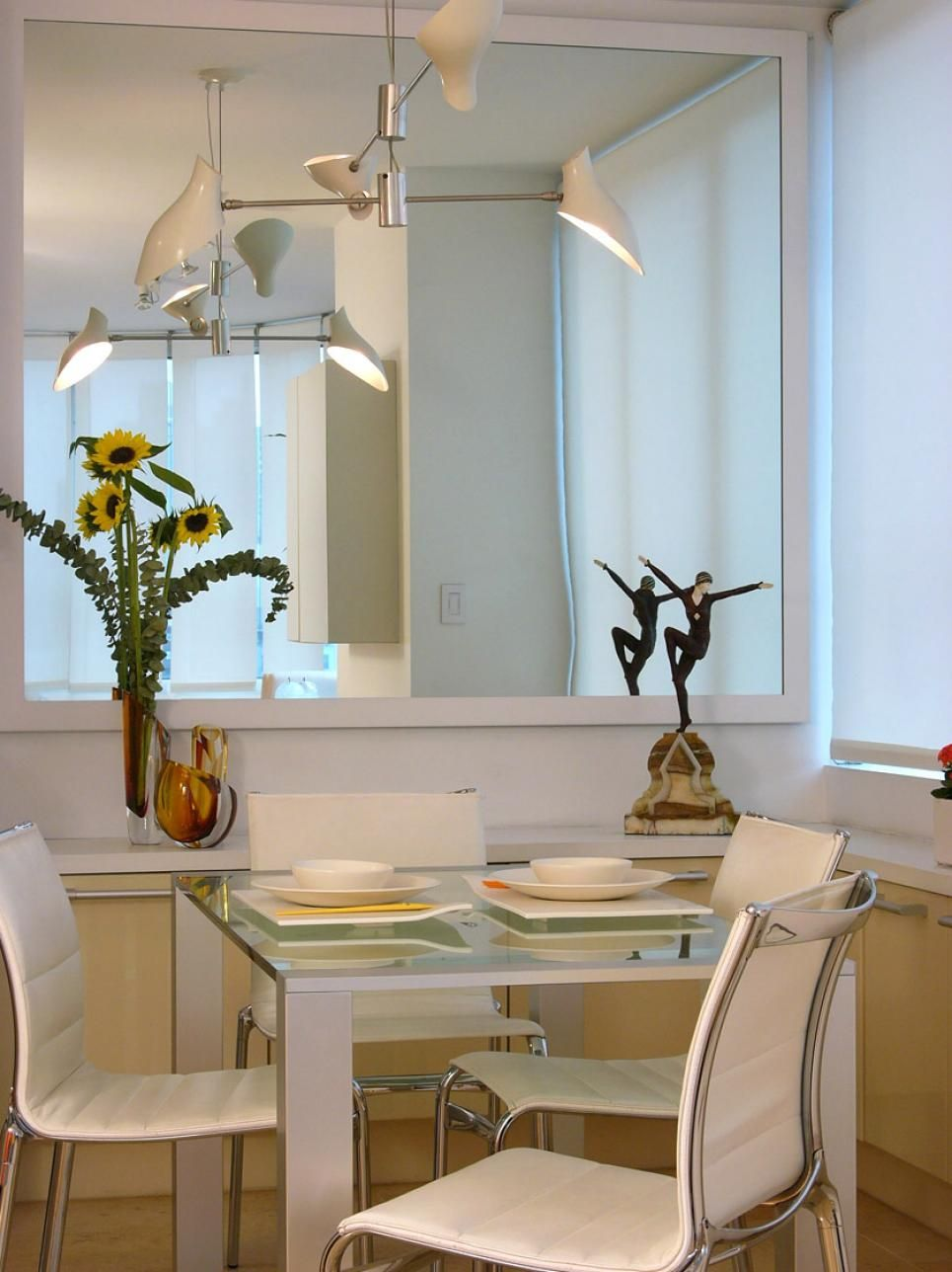 Decorating With Mirrors Mirror Dining Room Dining Room Small Home Decor Tips