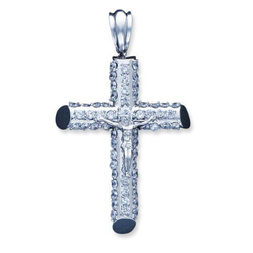 Sterling Silver Cz Cross Pendant Shop4Silver. $124.52