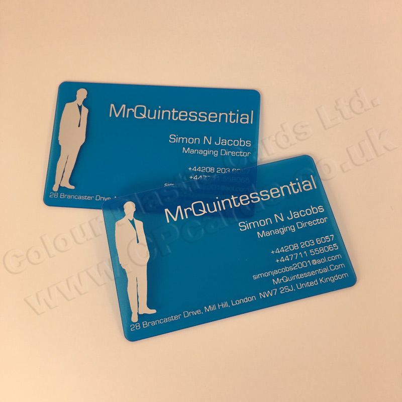 Frosted Translucent Plastic Business Cards We Offer Free Artwork And Free Delivery Within Eng Plastic Business Cards Transparent Business Cards Business Cards