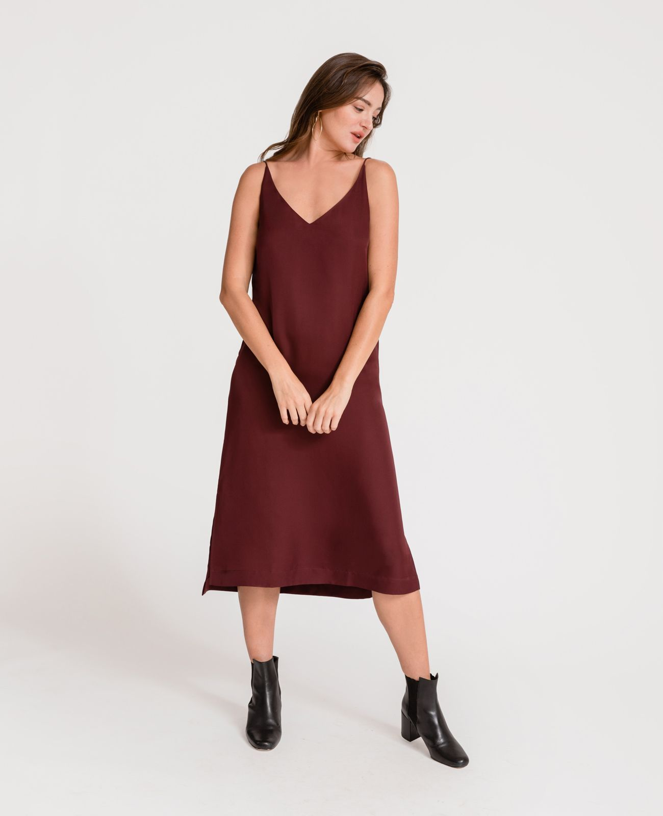 2e00230a8eaf Silk V-Neck Slip Dress   Shopping wishlist   Dresses, Silk, Silk slip