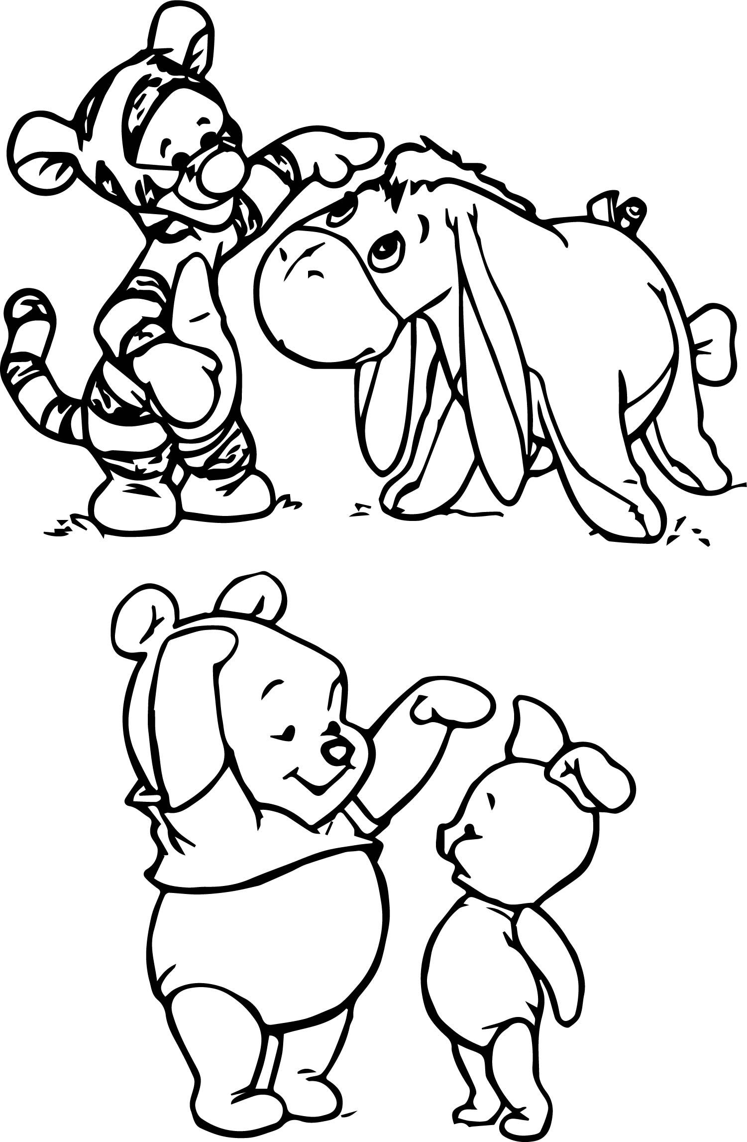 Winnie the Pooh Coloring Pages Cute cartoon drawings