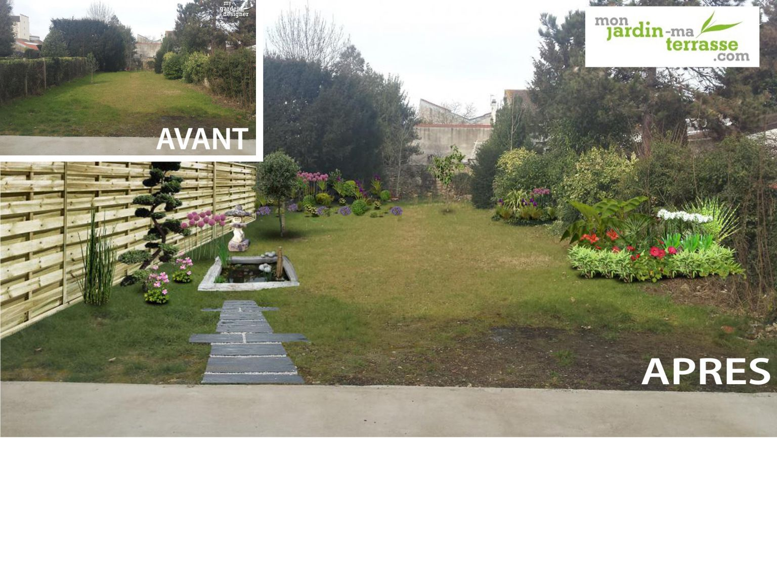 Amenager Un Jardin Japonais Jardin En Longueur Allees Terrasses