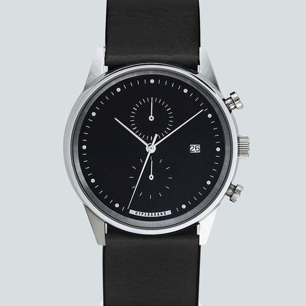 Hypergrand Chrono Silver Back Watch - Classic Black  90b42561d4