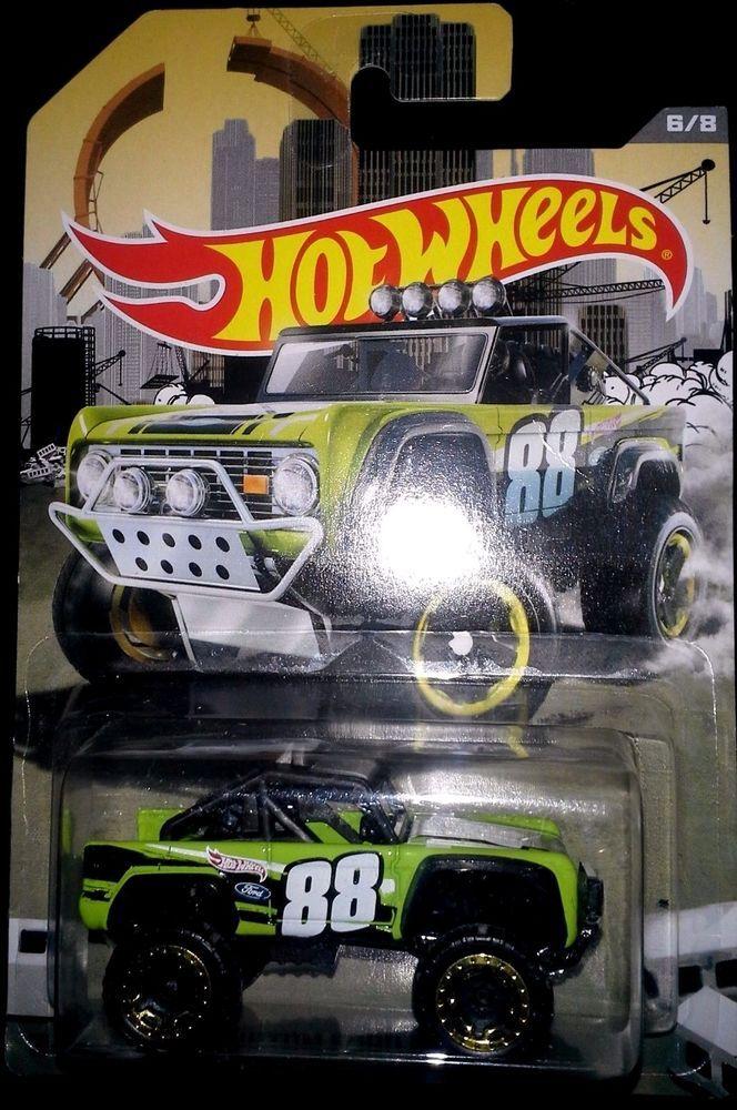 HOT WHEELS 2016 WALMART RAD TRUCK EXCLUSIVE  CUSTOM FORD BRONCO #HotWheels #Ford