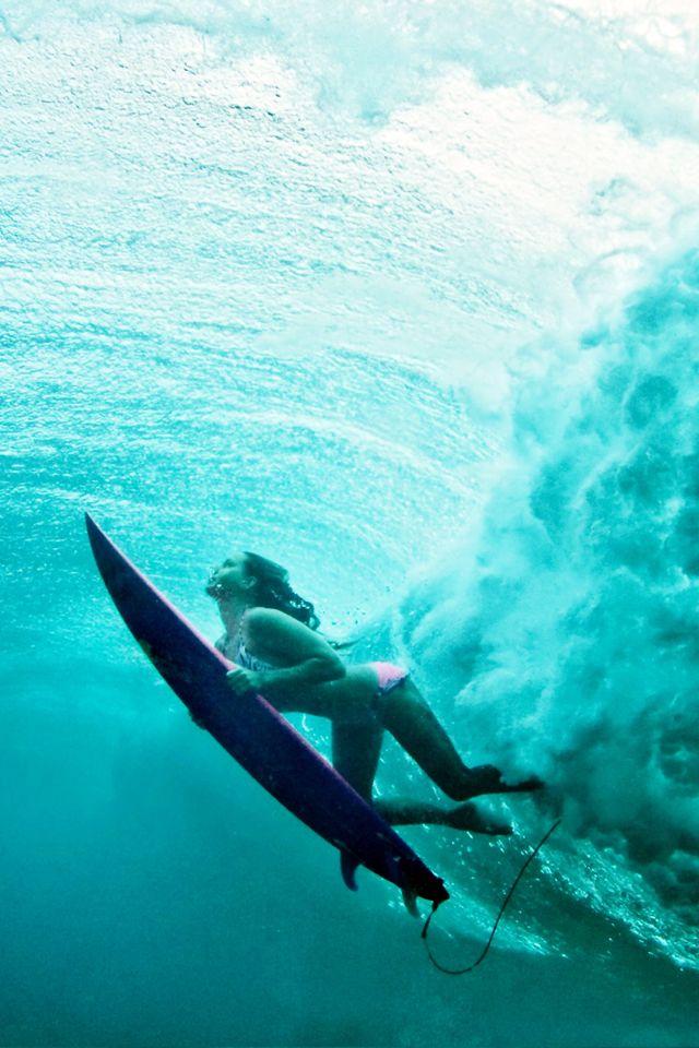 Underwater Surf Girl Wallpaper Terralonginqua Surfing In