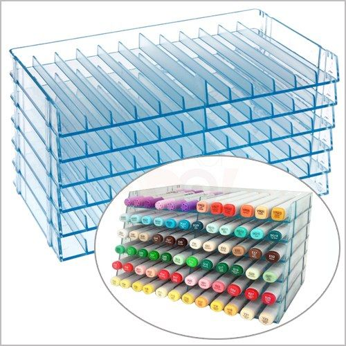 Best copic storage ever!! You buy single trays each holding twelve