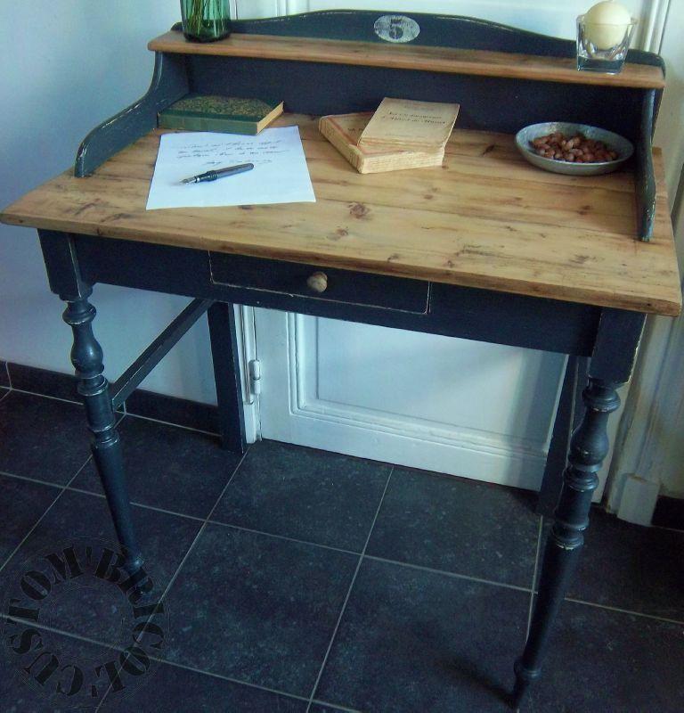 Bureau de comptable vintage et sa chaise Meuble vintage Petit Toit - rajeunir un meuble ancien