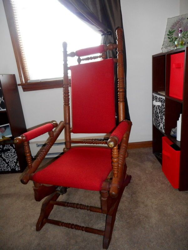 Antique Rocking Chair Victorian 1880s Turned Wood #Victorian