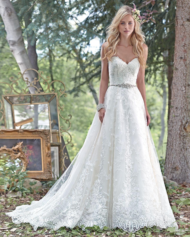 Vestido de Noiva de Maggie Sottero (Luna), coleção spring, corte em ...