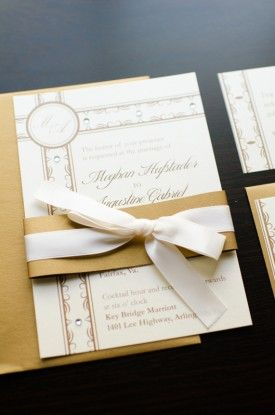 Gold and Ivory Wedding Invitation Suite