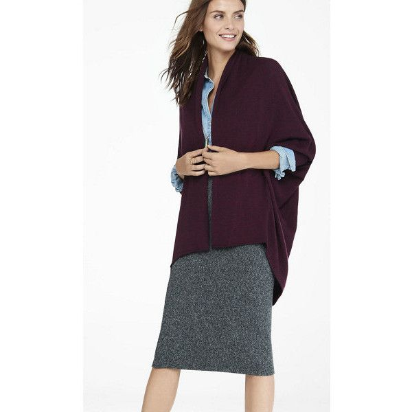 Express Marl Long Sleeve Cocoon Cover-up