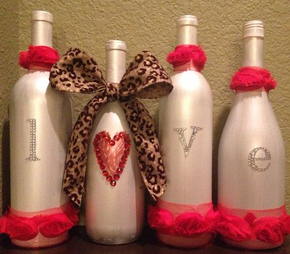 Bottles are sold as a set of 4. This set is ready to ship!! If you would like different colors, please be specific in your message and allow