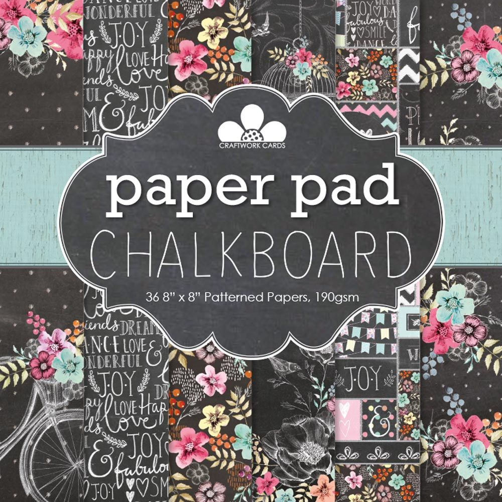 Chalkboard paper pad craftwork cards i wish pinterest chalkboard paper pad craftwork cards jeuxipadfo Image collections
