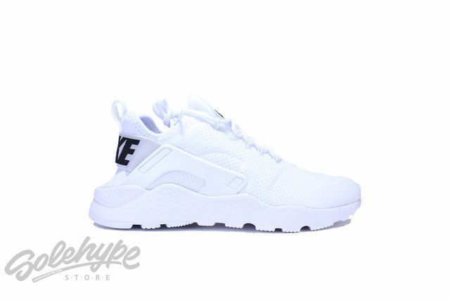 NIKE WOMENS AIR HUARACHE RUN ULTRA WHITE BLACK 819151 101