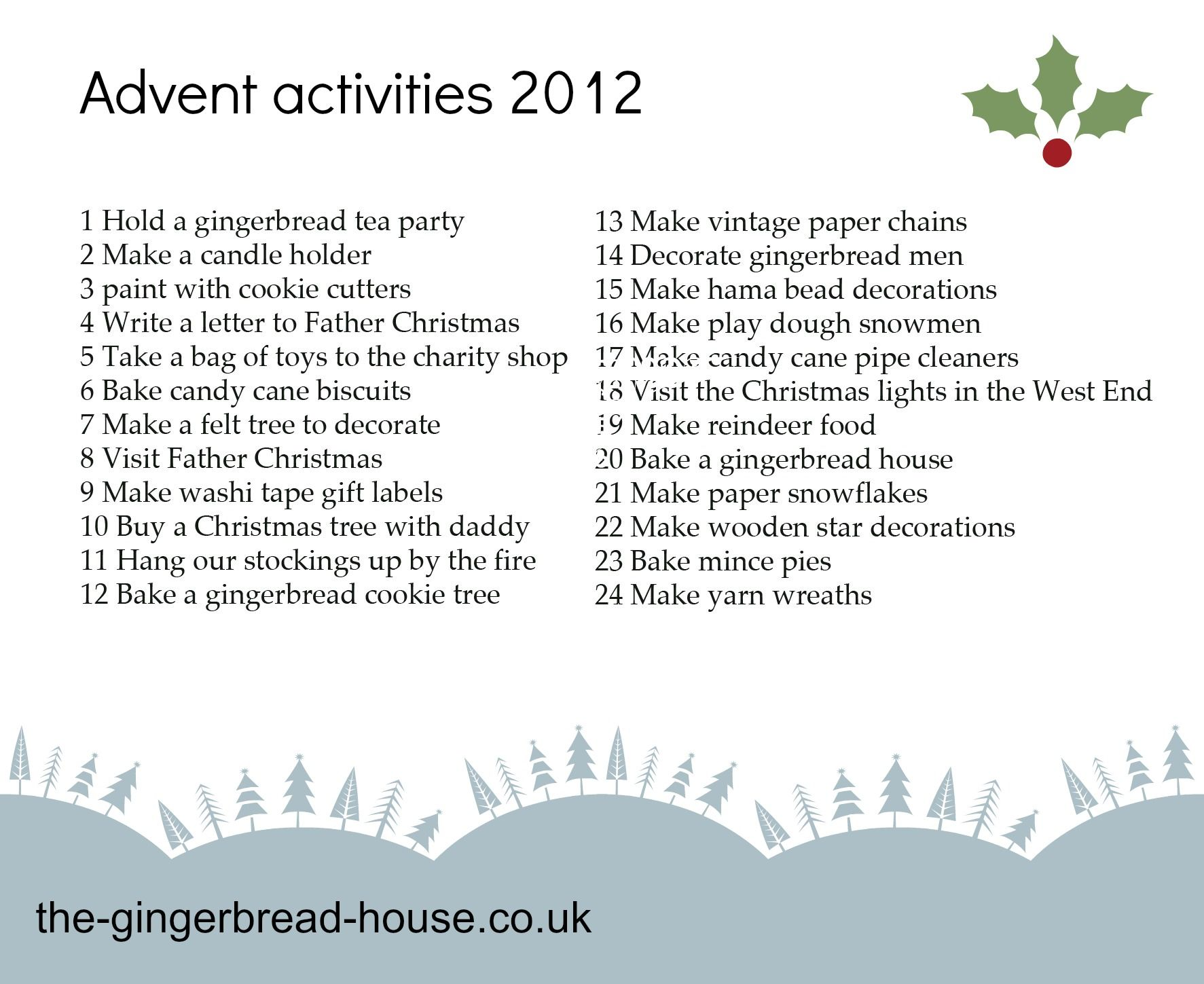 Our Advent activities Advent Pinterest