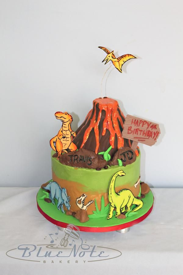 Volcano And Dinosaurs