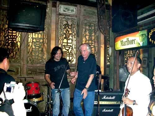 Jimmy Page in Thailand in 2008