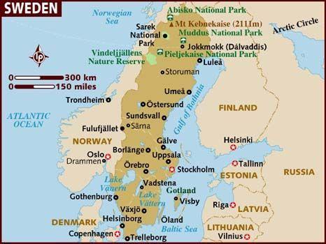 Map Of Sweden Sweden Travel Sweden Map Sweden