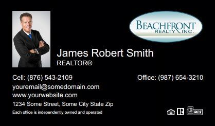 Beachfront Realty Business Cards Bri Bc 049 With Photo