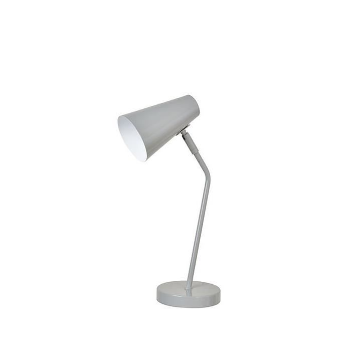 Charlie Lampe De Bureau Orientable H40 5cm Gris Corep Lampe De Bureau Lampe Pipistrello Et Lampe A Poser