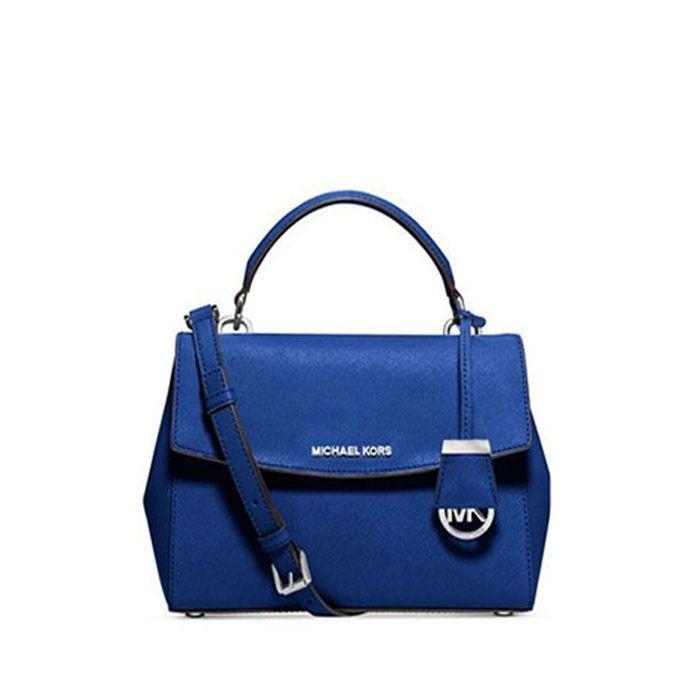 4abe2b286b1f MICHAEL Michael Kors Ava Extra-Small Saffiano Leather Crossbody Bag Blue