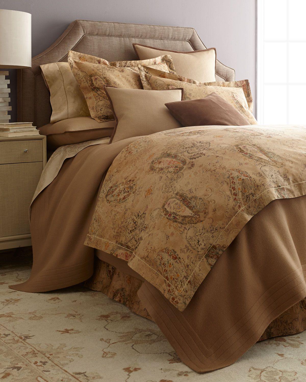 Verdonnet Queen Paisley Comforter 94 X 96 Camel Ralph Lauren