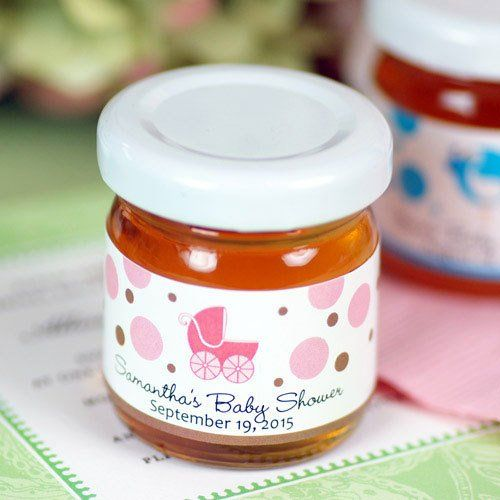 Personalized Baby Shower Honey Jarcute Favors For A Bee Theme