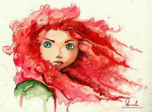 Watercolor-esque Merida