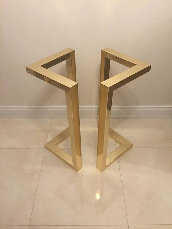 28 Hx20 W Gold Table Legs Brass Plated Dining Table Legs Metal Table Base Modern Table Legs Set Of 2 Metal Table Base Dining Table Legs Metal Table