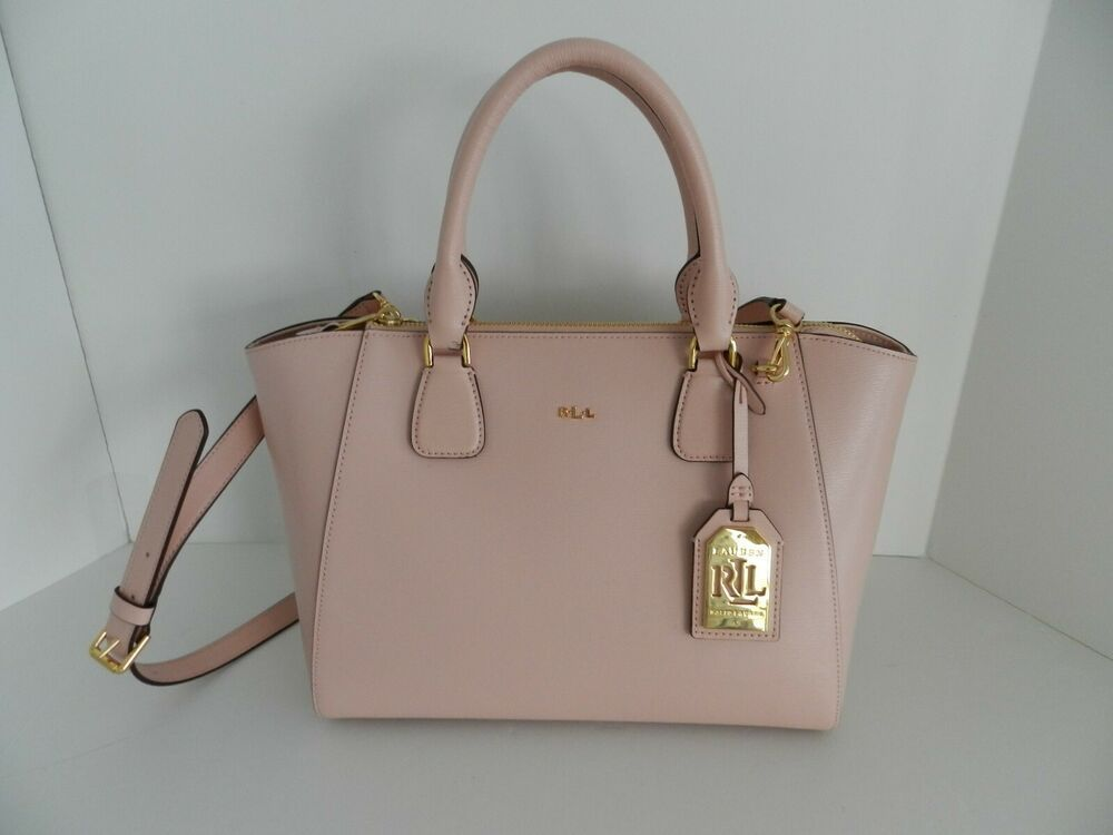 998f1cd59fb0 Ralph Lauren Lowell Stefanie II Satchel Saffiano Leather Handbag Purse Pink  NWT #RalphLauren #Satchel