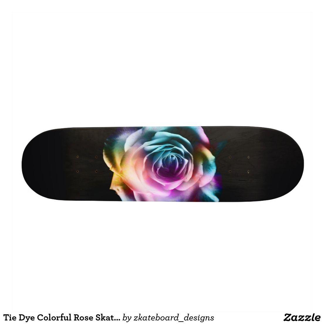 28d3b5ce Tie Dye Colorful Rose Double exposure photography design. Beautiful design  on a skateboard deck. Ride with style ! #skateboard #deck #photography  #design # ...